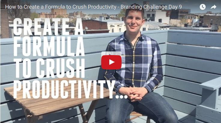 Formula To crush Productivity