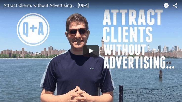 how to attract clients without advertising
