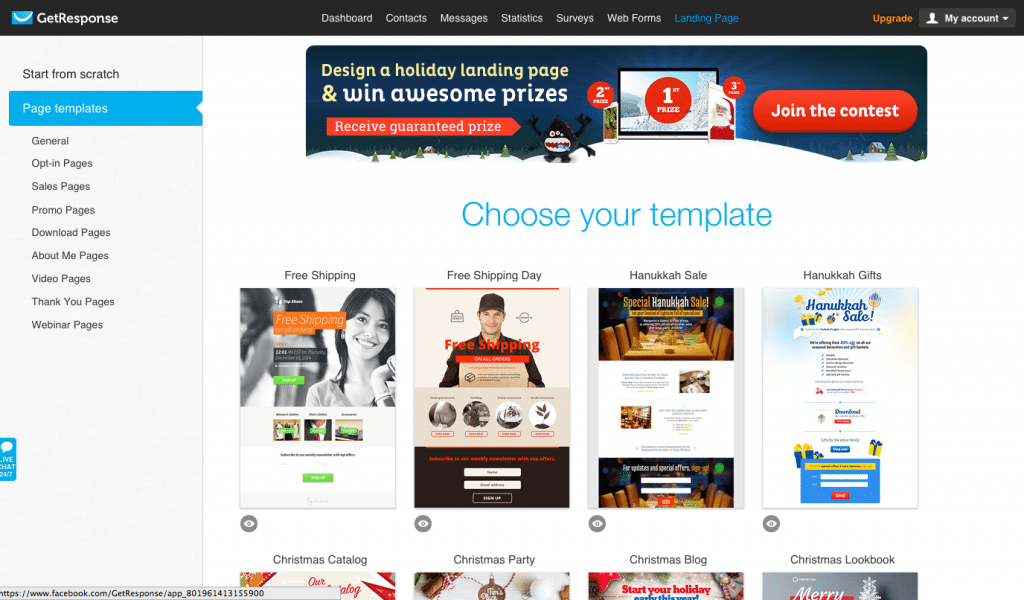 Getresponse Page Template