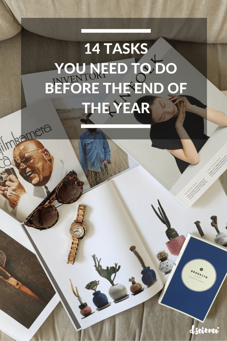 14 tasks you need to do before the end of the year