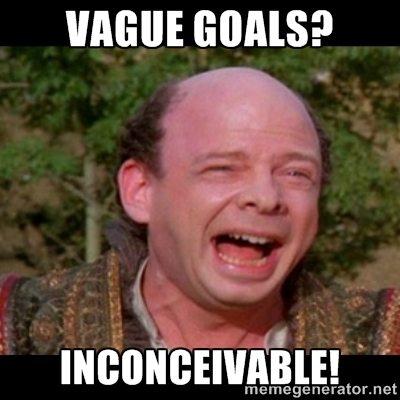 Vague goals are inconceivable
