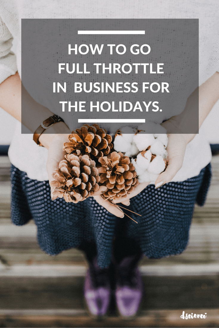 how to go full throttle in business through the holidays