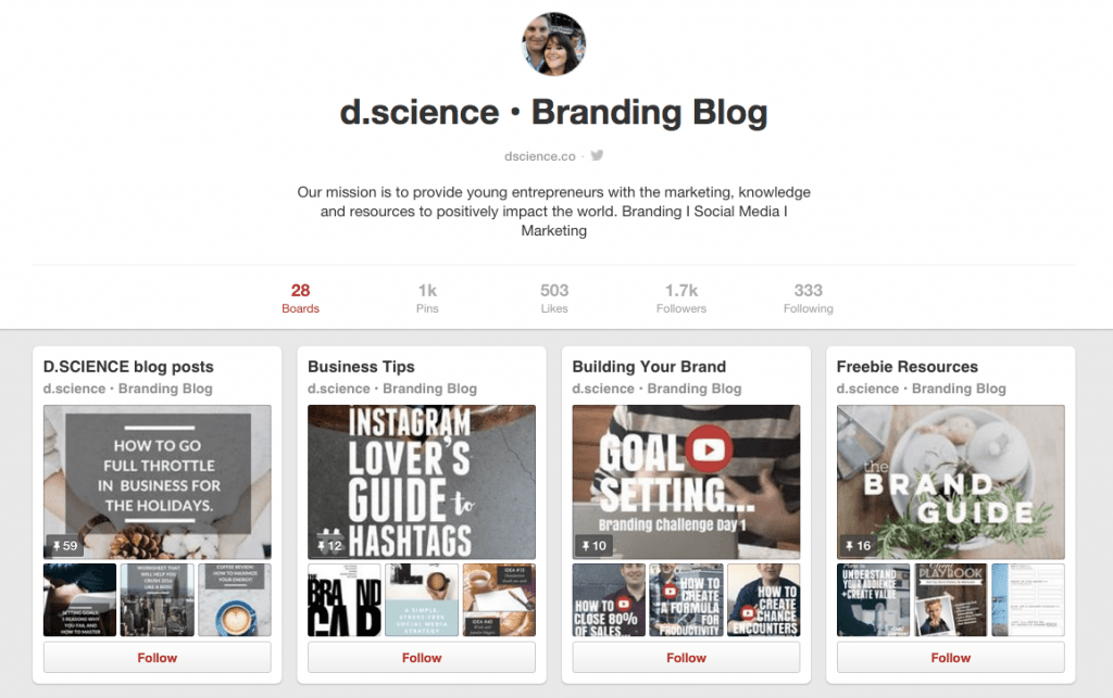 dscience pinterest boards