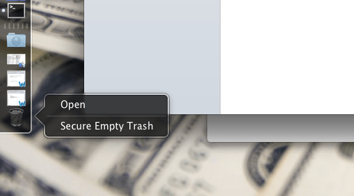 empty trash on the mac
