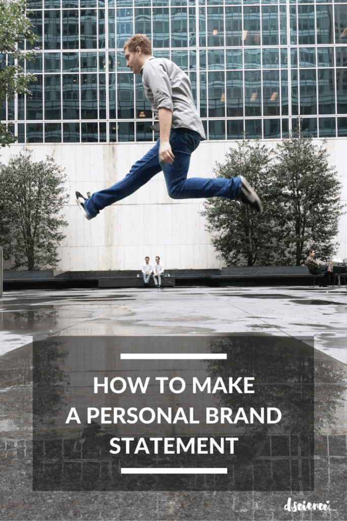 how to make a personal brand statement