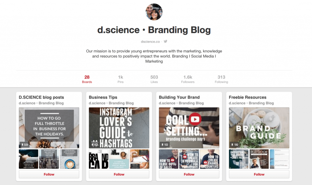pinterest pins and boards