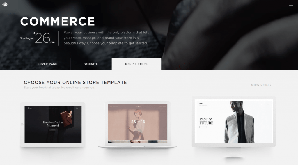 squarespace shop